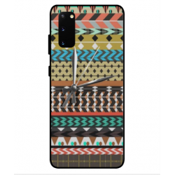 Samsung Galaxy S20 Mexican Embroidery With Clock Cover