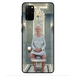 Samsung Galaxy S20 Plus Her Majesty Queen Elizabeth On The Toilet Cover