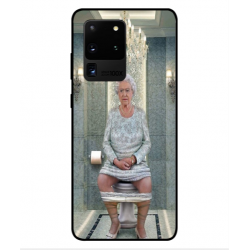 Samsung Galaxy S20 Ultra Her Majesty Queen Elizabeth On The Toilet Cover