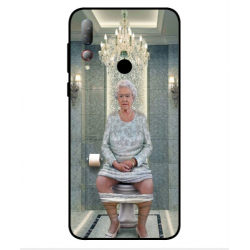 HTC Desire 19 Plus Her Majesty Queen Elizabeth On The Toilet Cover