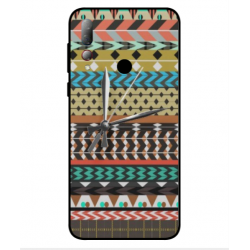 HTC Desire 19 Plus Mexican Embroidery With Clock Cover