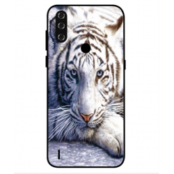 Coque Protection Tigre Blanc Pour HTC Wildfire R70