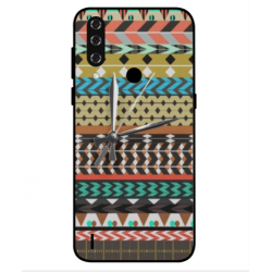 HTC Wildfire R70 Mexican Embroidery With Clock Cover