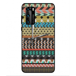 Coque Broderie Mexicaine Avec Horloge Pour Huawei P40