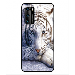 Coque Protection Tigre Blanc Pour Huawei P40