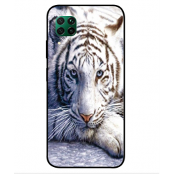 Coque Protection Tigre Blanc Pour Huawei P40 Lite