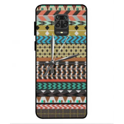 Xiaomi Redmi 9s Mexican Embroidery With Clock Cover