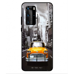 Coque New York Taxi Pour Huawei P40 Pro