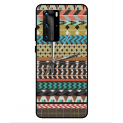 Huawei P40 Pro Mexican Embroidery With Clock Cover