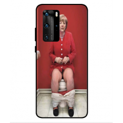 Huawei P40 Pro Angela Merkel On The Toilet Cover