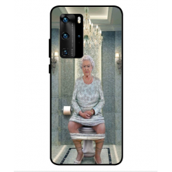 Huawei P40 Pro Her Majesty Queen Elizabeth On The Toilet Cover