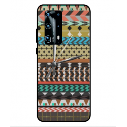 Huawei P40 Pro Plus Mexican Embroidery With Clock Cover