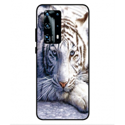 Huawei P40 Pro Plus White Tiger Cover