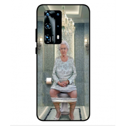 Huawei P40 Pro Plus Her Majesty Queen Elizabeth On The Toilet Cover
