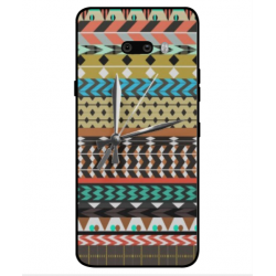 LG G8X ThinQ Mexican Embroidery With Clock Cover