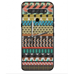 LG K51S Mexican Embroidery With Clock Cover