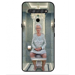 LG K51S Her Majesty Queen Elizabeth On The Toilet Cover