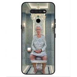 LG Q51 Her Majesty Queen Elizabeth On The Toilet Cover