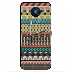Nokia 8.3 5G Mexican Embroidery With Clock Cover