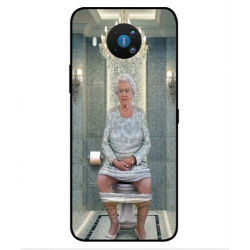 Nokia 8.3 5G Her Majesty Queen Elizabeth On The Toilet Cover