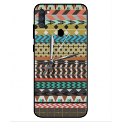 Samsung Galaxy A11 Mexican Embroidery With Clock Cover