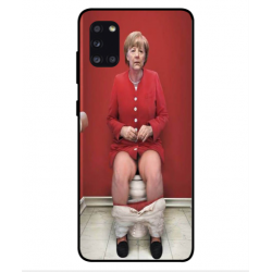 Samsung Galaxy A31 Angela Merkel On The Toilet Cover