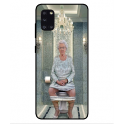 Samsung Galaxy A31 Her Majesty Queen Elizabeth On The Toilet Cover