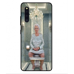 Samsung Galaxy A41 Her Majesty Queen Elizabeth On The Toilet Cover