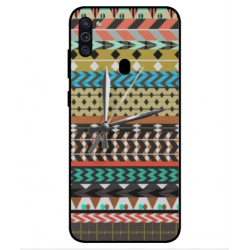 Samsung Galaxy M11 Mexican Embroidery With Clock Cover