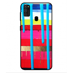 Samsung Galaxy M21 Brushstrokes Cover