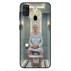 Samsung Galaxy M21 Her Majesty Queen Elizabeth On The Toilet Cover