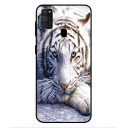 Samsung Galaxy M21 White Tiger Cover