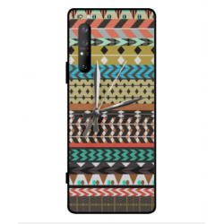 Sony Xperia 1 II Mexican Embroidery With Clock Cover