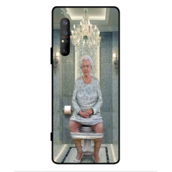 Sony Xperia 1 II Her Majesty Queen Elizabeth On The Toilet Cover