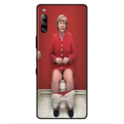 Sony Xperia L4 Angela Merkel On The Toilet Cover