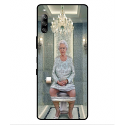 Sony Xperia L4 Her Majesty Queen Elizabeth On The Toilet Cover