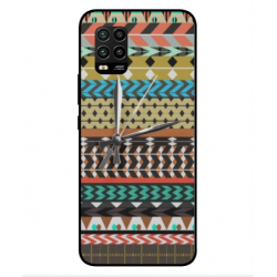 Xiaomi Mi 10 Lite 5G Mexican Embroidery With Clock Cover