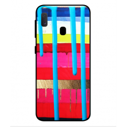 Samsung Galaxy A20e Brushstrokes Cover