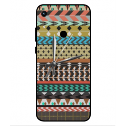 Huawei Honor 8A 2020 Mexican Embroidery With Clock Cover