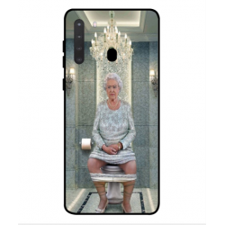 Samsung Galaxy A21 Her Majesty Queen Elizabeth On The Toilet Cover