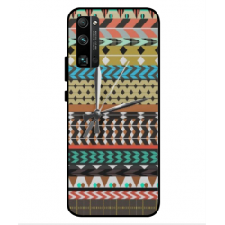 Coque Broderie Mexicaine Avec Horloge Pour Huawei Honor 30 Pro