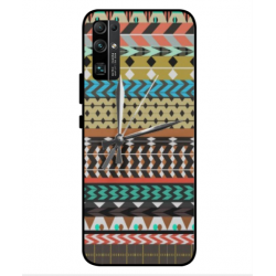 Coque Broderie Mexicaine Avec Horloge Pour Huawei Honor 30