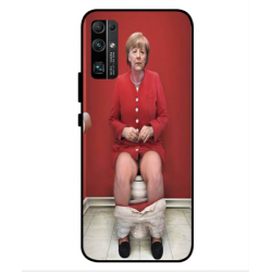 Huawei Honor 30 Angela Merkel On The Toilet Cover