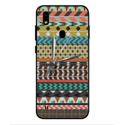 ZTE Blade A7 Prime Mexican Embroidery With Clock Cover