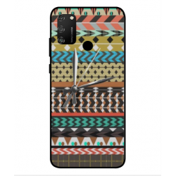 Huawei Honor 9A Mexican Embroidery With Clock Cover