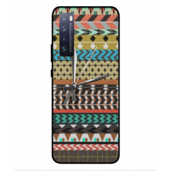 Huawei Nova 7 5G Mexican Embroidery With Clock Cover
