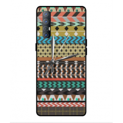 Coque Broderie Mexicaine Avec Horloge Pour Oppo Find X2 Neo