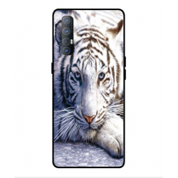 Coque Protection Tigre Blanc Pour Oppo Find X2 Neo