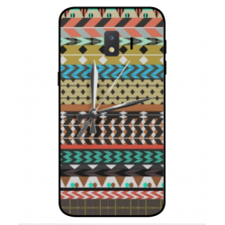 Samsung Galaxy J2 Core 2020 Mexican Embroidery With Clock Cover