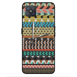 Coque Broderie Mexicaine Avec Horloge Pour Oppo A92s